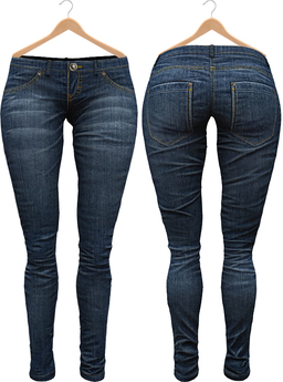 Blueberry Xale - Belleza & Maitreya & Standard Mesh - Boots Friendly & Regular Cut Jeans Dark Blue