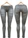 Blueberry Xale - Belleza & Maitreya & Standard Mesh - Boots Friendly & Regular Cut Jeans Fade
