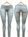 Blueberry Xale - Belleza & Maitreya & Standard Mesh - Boots Friendly & Regular Cut Jeans Fade Light