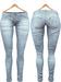 Blueberry Xale - Belleza & Maitreya & Standard Mesh - Boots Friendly & Regular Cut Jeans Ice