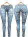 Blueberry Xale - Belleza & Maitreya & Standard Mesh - Boots Friendly & Regular Cut Jeans Light Blue