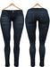 Blueberry Xale - Belleza & Maitreya & Standard Mesh - Boots Friendly & Regular Cut Jeans Midnight