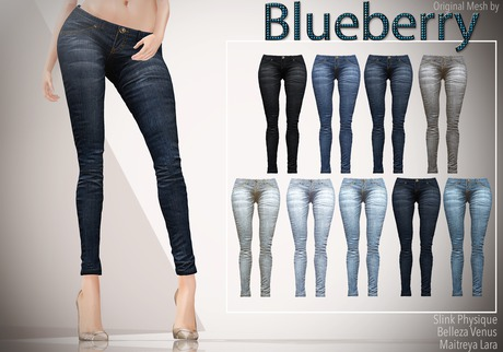 Blueberry Xale - Belleza & Maitreya & Standard Mesh - Boots Friendly & Regular Cut Jeans FAT PACK