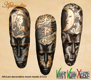 Aphrodite African decorative mesh masks  COPY/  MOD (boxed)