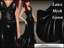 ! *DEMO* . *IC* Latex Gown Mesh Black
