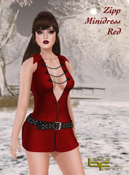 Babele Fashion :: Zipp Minidress Red