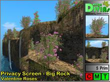 Privacy Screen - Big Rock - Valentine Roses