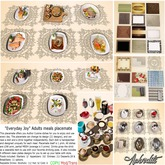"""""""Everydays Joy"""" Standard Food Placemate (Boxed)"""