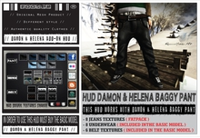 *2015 EDT.* █║▌LOOSER ║▌║® [ BOX ] HUD DRIVEN // Damon & Helena Baggy Pant JEANS FATPACK