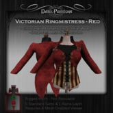 Dark Passions - Victorian Ringmistress - Red - 5 Standard Sizes Mesh