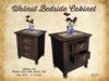 [noctis] Walnut bedside cabinet BOXED
