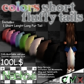 [Naeko] Colors Short Fluffy Tail White