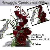 Valentines Be Mine Floral Arrangement [Red]