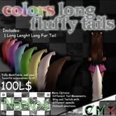 [Naeko] Colors Long Fluffy Tail White