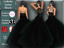[TKS] Basics - Collette Gown Black