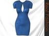REAL FASHION Bodycon cutout dress - BLUE