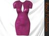 REAL FASHION Bodycon cutout dress - DARK PINK