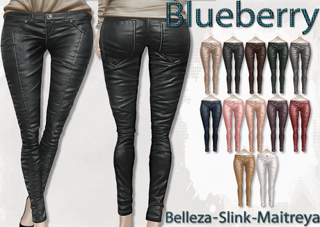 Blueberry Ross - Maitreya Lara & Belleza Venus & Slink Physique - Leather Pants (Boots Compatible) Fat Pack