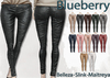 Blueberry ross leather pants