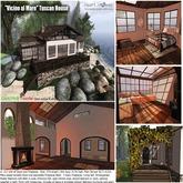 "<Heart Homes> ""Vicino al Mare"" Tuscan House (Boxed, Copy/Mod)"