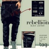 tag. pants rebellion [black leather]