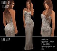 DEMO BD-Nadalia Gown satin sequin dress mesh