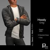 PierreStyles HOODY with shirt GREY