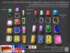 LDG-FULL PERM 188 Emerald Baguette Square cut Gem Diamond /30 parts/Nano/18 textures ver./Builderkit