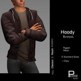 PierreStyles HOODY with shirt BROWN