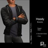 PierreStyles HOODY with shirt BLACK