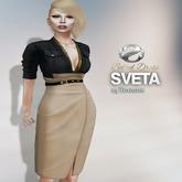 SHEY - Sveta Belted Dress ( 24 Textures )