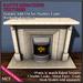 *KK* TEXTURES Add-On Wetherby Fireplace WOODS DARK Vendor