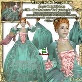 Wunderlich's Marquise de Pompadour Teal Rococo gown