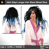 A&A Slept Longer Hair Mixed Blue (Special Color). Messy curly long womens hairstyle. Promo!