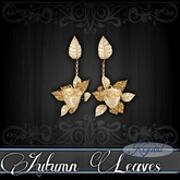 ::: Krystal ::: Autumn Leaves - Earrings - Gold