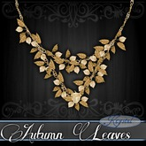 ::: Krystal ::: Autumn Leaves - Necklace - Gold