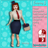 ..::KnocKeRs::..Company B Vintage Pin-up Outfit[Navy]