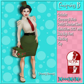 ..::KnocKeRs::..Company B Vintage Pin-up Outfit[Army Green]