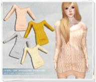 .::Y&R::. Off Shoulder Sweater LightPack
