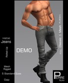 PierreStyles JEANS Piped Leg-Roll-up DEMO
