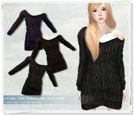 .::Y&R::. Off Shoulder Sweater DarkPack