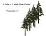 One prim pine mesh cluster set 006