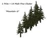 One prim pine mesh cluster set 007