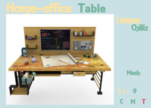 Home-office Table (Mesh) [Lemon Chilliz]