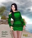 Babele Fashion :: Shoulder Minidress Green