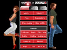 Fotoscope FotoModel V1 - Pose and Light one or two photo models almost ANYWHERE!