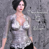 ~*MF*~ Misunderstood Lace Top- Silver Sys/Omega Applier