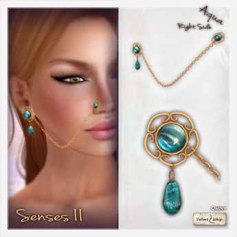 Second Life Marketplace V W Senses Ii Right Aqua Nose To
