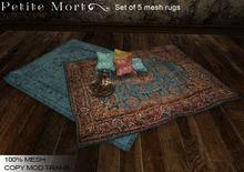Petite Mort- Boho Blues MESH set of 5 rugs