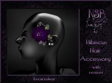 NSP Hibiscus Hair Flower Blue boxed